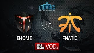 Fnatic vs EHOME, game 1