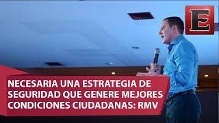 Rafael Moreno Valle llamó a diseñar una estrategia de seguridad que genere mejores condiciones para México, dado que la implementada en  años anteriores, ha sido desastrosa desde el punto de vista de incidencia delictiva.16 de julio 2017COMENTA ESTE VIDEO Y COMPARTELO CON TUS AMIGOSPara más información entra: http://www.youtube.com/excelsiortvNo olvides dejarnos tus comentarios y visitarnos enFacebook: https://www.facebook.com/ExcelsiorMexTwitter: https://twitter.com/Excelsior_MexSitio: http://www.excelsior.com.mx/tvSuscríbete a nuestro canal: https://www.youtube.com/channel/UClqo4ZAAZ01HQdCTlovCgkA