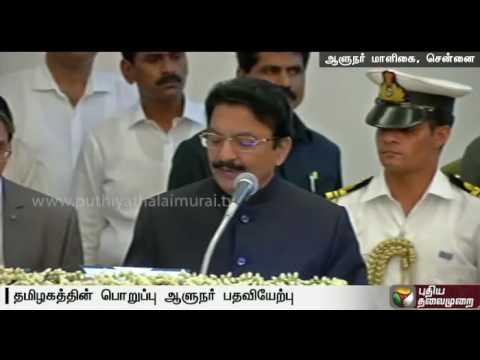 Vidyasagar-Rao-takes-additional-charge-as-Tamil-Nadu-Governor