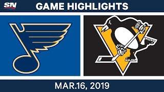 NHL Highlights   Blues vs Penguins – Mar 16, 2019