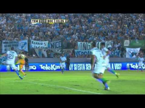 Lo tuvieron Lodeiro y Meli. Temperley 0 - Boca 0. Fecha 1. Primera División 2016.