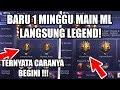 1 MINGGU MAIN ML LANGSUNG LEGEND! TERNYATA GINI CARANYA - MOBILE LEGENDS INDONESIA