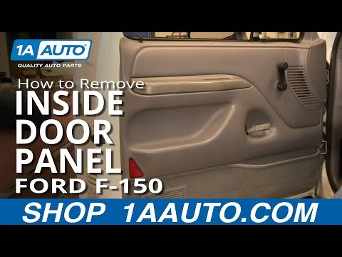 How To Install Replace Remove Inside Door Panel Manual Windows Ford F-150 92-96 1AAuto.com