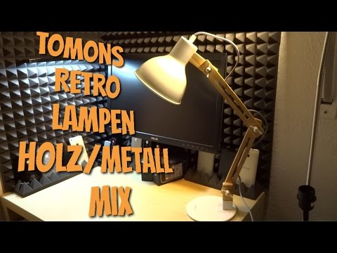 TOMONS Retro Holz & Metall Schreibtischlampe im Test Review