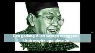Video SHOLAWAT SYI'IR TANPO WATON GUSDUR FULL LIRIK TEKS ARAB JAWA INDONESIA MP3, 3GP, MP4, WEBM, AVI, FLV September 2019