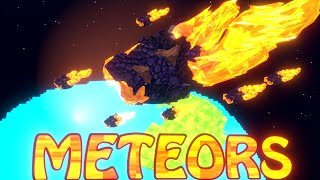 Minecraft Mods | FALLING METEOR MOD Showcase! (SPACE MOBS, SPACE ARMOUR, METEOR DETECTORS)