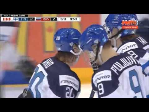 Россия - Финляндия 3:4 ОТ Молодежный чемпионат мира по хоккею 2015 Финал  Обзор матча (видео)