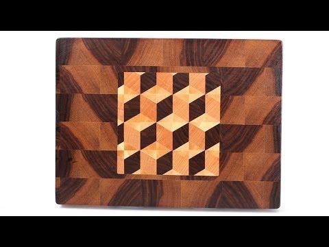 3D inlaid end grain cutting board
