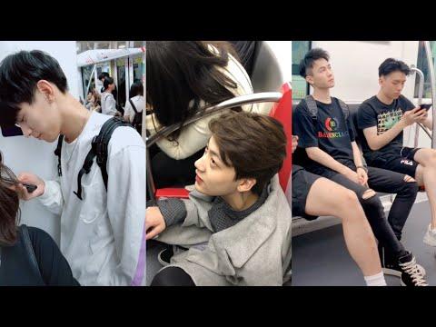 Handsome and Cute Boys Douyin/Tiktok China Subway edition