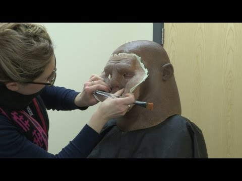 Strax gets his make-up done