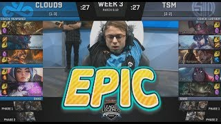 Video [EPIC] C9 (Jensen Irelia) VS TSM (Bjergsen Darius) Highlights - 2018 NA LCS Summer W3D1 MP3, 3GP, MP4, WEBM, AVI, FLV Agustus 2018