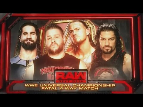[WWE 2K16] SETH ROLLINS VS. KEVIN OWENS VS. BIG CASS VS. ROMAN REIGNS