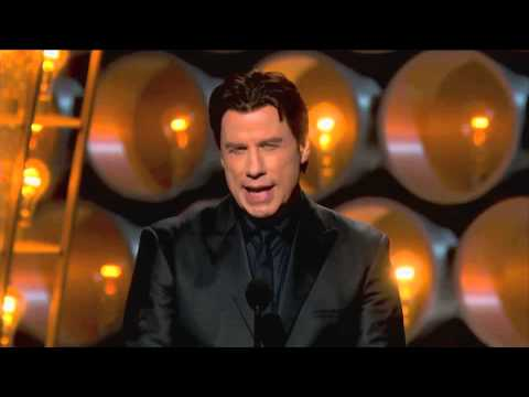 John Travolta gets another chance to pronounce Idina Menzel.