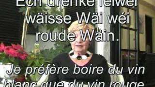 Qualité Version_: http://www.youtube.com/watch?v=u4eMIDRaClE TEST VERSIOUN_ Lëtzebuergesch léiere mam Astrid a Jérôme Lulling - # 2 Iessen an ...