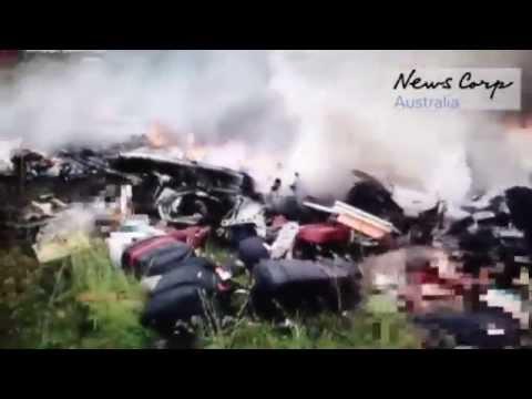Первое видео с места падения Боинга MH17