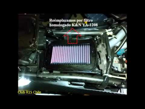 Yamaha R15 cambio de Filtro y Bujia de Iridium