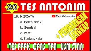 Download Video PPPK 2019 Tes TIU Antonim  I   CPNS   I  TPA  I  USM PKN STAN MP3 3GP MP4