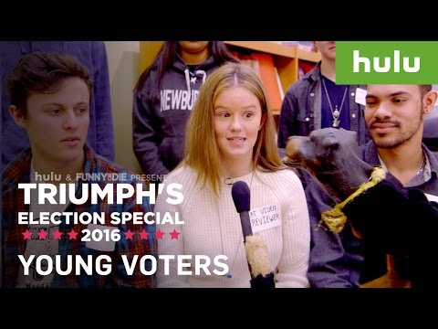 Triumph the Insult Comic Dog Talks to UNH Student & Young Voters [video]