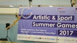 1 место Никитенко Марина pole classic профи - Кубок ДВ по воздушно-спортивному эквилибру 2017