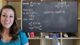 Definite Integral Of An Even Function