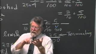 Lecture 20 - Developmental Arithmetic: Math 10