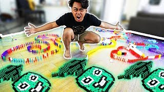 Video Building Things with 100,000 Dominos ~ Guava Logo MP3, 3GP, MP4, WEBM, AVI, FLV Oktober 2018