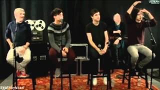 Harry, Louis, Niall and Liam LiveStream Radio Interview and Performance (Boston)