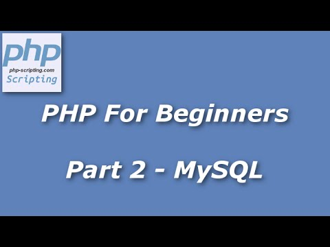 Video PHP For Beginners - Part 2 - Inserting Variables Into MySQL download in MP3, 3GP, MP4, WEBM, AVI, FLV January 2017