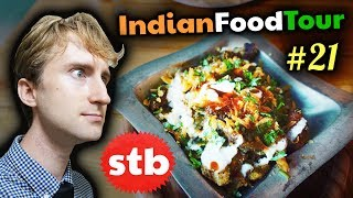 """It's time for some more Indian food! Behold some Indian chaats in New Delhi, India. These """"chaats"""" fall somewhere between..."""