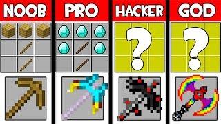 Video Minecraft - NOOB vs PRO vs HACKER vs GOD :SUPER PICKAXE CRAFTING in Minecraft ! AVM SHORTS Animation MP3, 3GP, MP4, WEBM, AVI, FLV Juni 2019