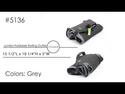 5136 - Jumbo Foldable Rolling Duffel