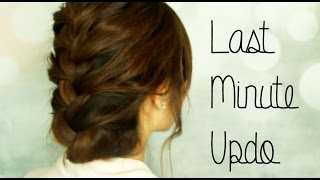 Last Minute Updo - YouTube