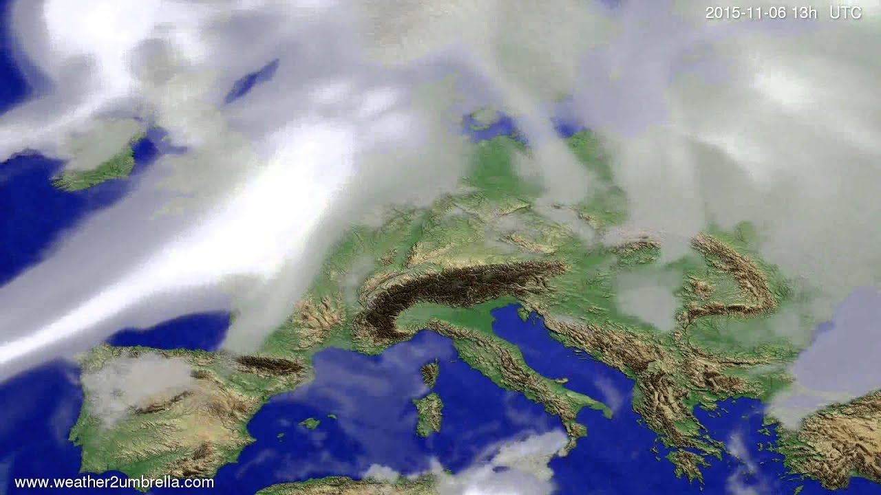 Cloud forecast Europe 2015-11-03
