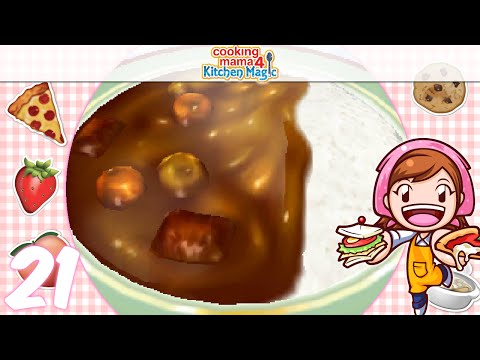 [Let's Play] Cooking Mama 4 Kitchen Magic - EP21: Curry ୧༼✿ ͡◕ д ◕͡ ༽୨