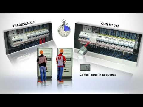 HT 712 MULTIMETRO DIGITALE A PENNA E SENSO CICLICO DELLE FASI A 1 TERMINALE