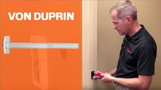 How to Install Von Duprin 98/99 Rim Exit Device thumbnail