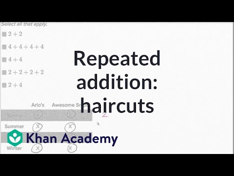 Repeated Addition Haircuts Video Khan Academy