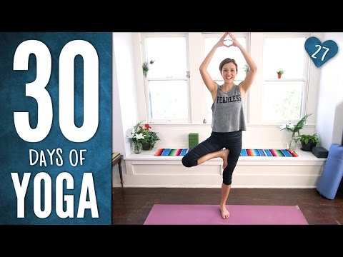 yoga - Join Adriene on Day 27 of The 30 Days of Yoga journey! Flexible, Fearless and FUN Yoga Practice - equipped with Plank Playtime! (Don't be scared!) This 16 min practice is a great reminder that...