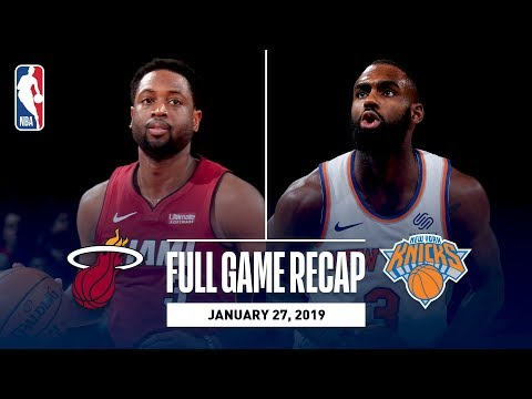 Video: Full Game Recap: Heat vs Knicks | Dwyane Wade Records Double-Double In MSG