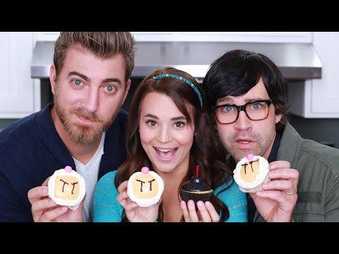 BOMBERMAN CUPCAKES – ft. Rhett and Link! – NERDY NUMMIES