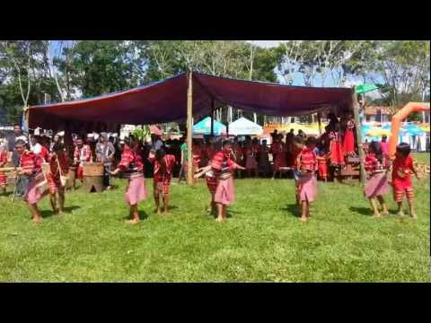 Not your Typical cheering squad, Filipino Native Folk Dance at kaamulan2013