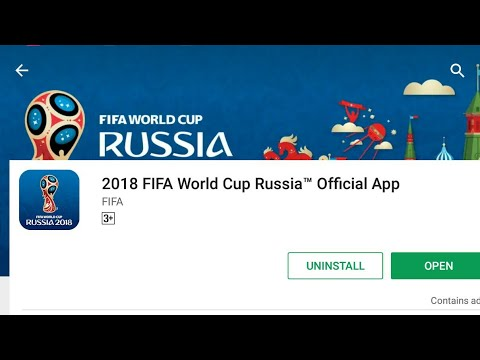 How To Download FIFA World Cup 2018  Russia (Official App) Live Score In Mobile