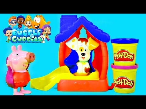 color - Bubble Guppies Bathtime Puppy Splash and Slide Color Changing Muddy Spots Wash away with warm water. Nickelodeon Nick Jr. Cartoon TV Show Bubble Guppies Playset includes Bubble Puppy, Dog House...