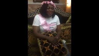 Pregnant Funke Akindele Seriously Crying As Tope Alabi Sing for her on her Surprise Birthday Party