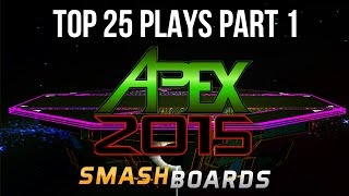 Top 25 Super Smash Bros Plays of Apex 2015 – (Part 1/5)