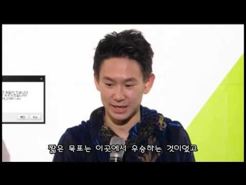 데니스 텐 - 2015 4대륙선수권 우승인터뷰 자막 Denis Ten 4CC Winner's Interview