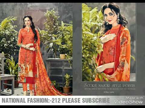 Video Designer Suit pure lawn print with self embroidery with less work collection NATIONAL FASHION 2018 download in MP3, 3GP, MP4, WEBM, AVI, FLV January 2017