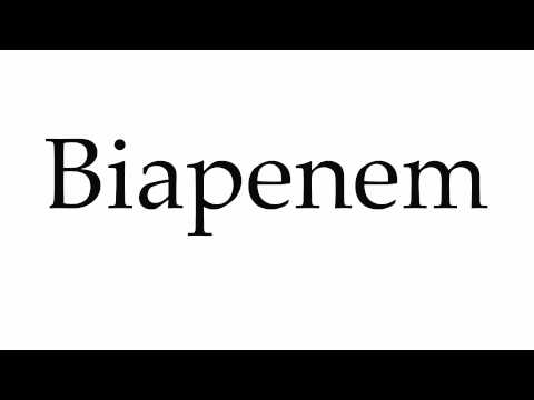 How to Pronounce Biapenem