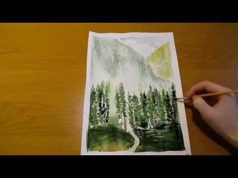 Рисуем природу мастер классы видео