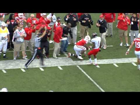 Kadeem Jones spectacular catch vs Arkansas St. 2011 video.